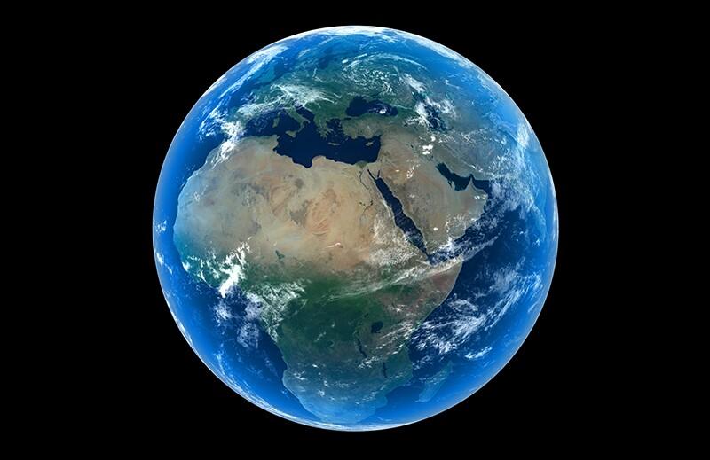 Carbon capture & storage 3750305-globe-africa