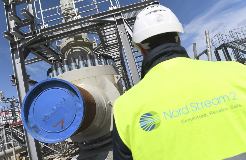 Nord Stream 2 - Construction site receiving station