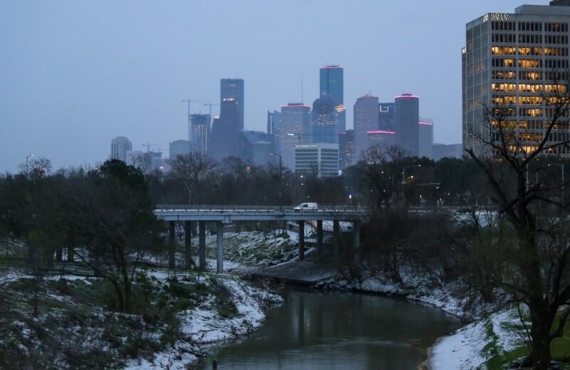 Historic Snow Storm Hits Houston